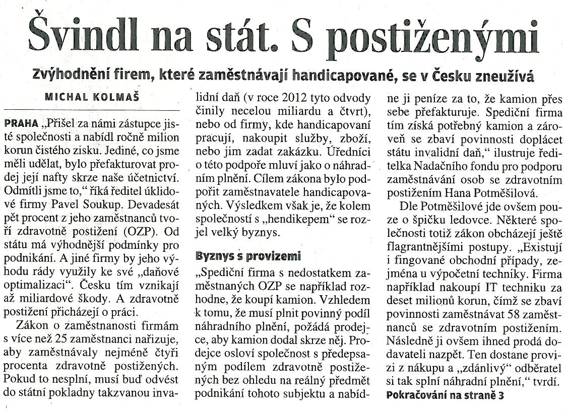 Lidové noviny - pátek 09.05.2014